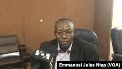 Jean-Claude Fogno, secrétaire exécutif de l'ONG Mandela Center à Yaoundé, le 2 août 2019. (VOA/Emmanuel Jules Ntap)
