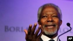Kofi Annan, ancien secrétaire général des Nations Unies, au symposium du World Food Prize à Des Moines, en Iowa, 14 octobre 2010.
