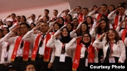 Lebih dari 6.000 Calon Pegawai Negeri Sipil (CPNS) mengikuti Presidential Lecture di Jakarta. (Foto: Setneg)