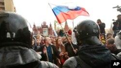 Protest u Moskvi, 7. oktobra 2017.