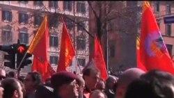 2012-03-09 粵語新聞: 數千人在羅馬示威抗議改革措施