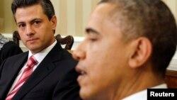 El presidente de México Enrique Peña Nieto recibe este jueves la visita de su colega estadounidense, Barack Obama, para quien se han extremado las medidas de seguridad.