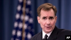 FILE - John Kirby, the State Department spokesman.