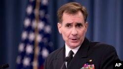 美國國防部發言人海軍少將約翰•科比。