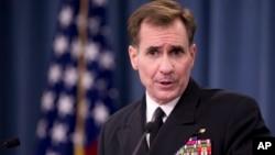 Sekretaris pers Departemen Pertahanan AS, Laksamana Muda John Kirby.
