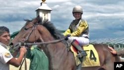 Apprentice jockey Sarah Rook