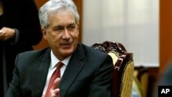 이란과의 고위급 양자회담 참석차 스위스 제네바를 방문한 윌리엄 번스 미 국무부 부장관. (자료사진)
