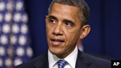 Tổng thống Obama phát biểu về thuế tại Tòa Bạch Ốc hôm 03/08/2012