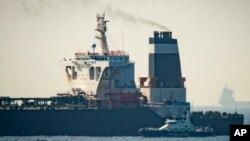 "Kapal supertanker ""Grace 1"" di Gibraltar, perairan teritori Inggris, 4 Juli 2019."