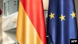 Germany EU Flags