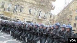 Polis etiraz aksiyasını dağıdarkən