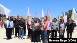 Daxuyaniya Rûniştvanên Efrînê li Dij Guherandina Demografiya Efrînê