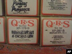 People who owned player pianos kept boxes and boxes of piano rolls, much as people later collected phonograph records. These were made by a company that recently stopped making piano rolls.