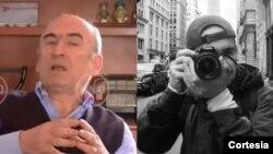El ingeniero Jorge Enrique Pizano, testigo clave en el escándalo de los sobornos de Odebrecht, en Colombia, y su hijo, Alejandro Pizano. Cortesía: Noticias Uno y Twitter.