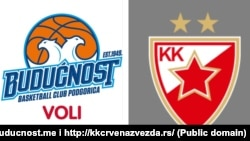 Grbovi košarkaških klubova Budućnost i Crvena zvezda (Foto: preuzeto sa zvaničnih veb stranica Budućnosti i Zvezde)