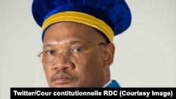 Zuzi Dieudonné Kaluba Dibwa mokambi ya sika ya Cour constitutionnelle, Kinshasa, RDC, 20 avril 2021. (Twitter/Cour constitutionnelle RDC)