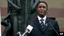 FILE - Sierra Leone's Minister of Information Alpha Kanu.