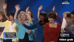 Demokrat qadınlar Hillari Klintona dəstək bildirir