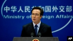 中国外交部发言人洪磊(资料照片)