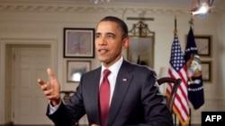 Tổng thống Hoa Kỳ Barack Obama trong bài phát biểu hàng tuần, ngày 5 tháng 2, 2011