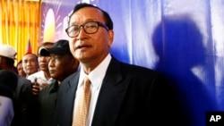 柬埔寨反对派领袖森朗西