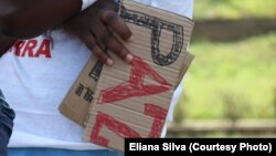 Marcha pela paz em Maputo (Foto gentilmente cedida por Eliana Silva. Moçambique)