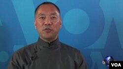郭文贵2017年4月19日接受美国之音独家专访的视频截图