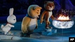 Закпытие XXII Зимних Олимпийских игр в Сочи. Россия. 23 февраля 2014 г.