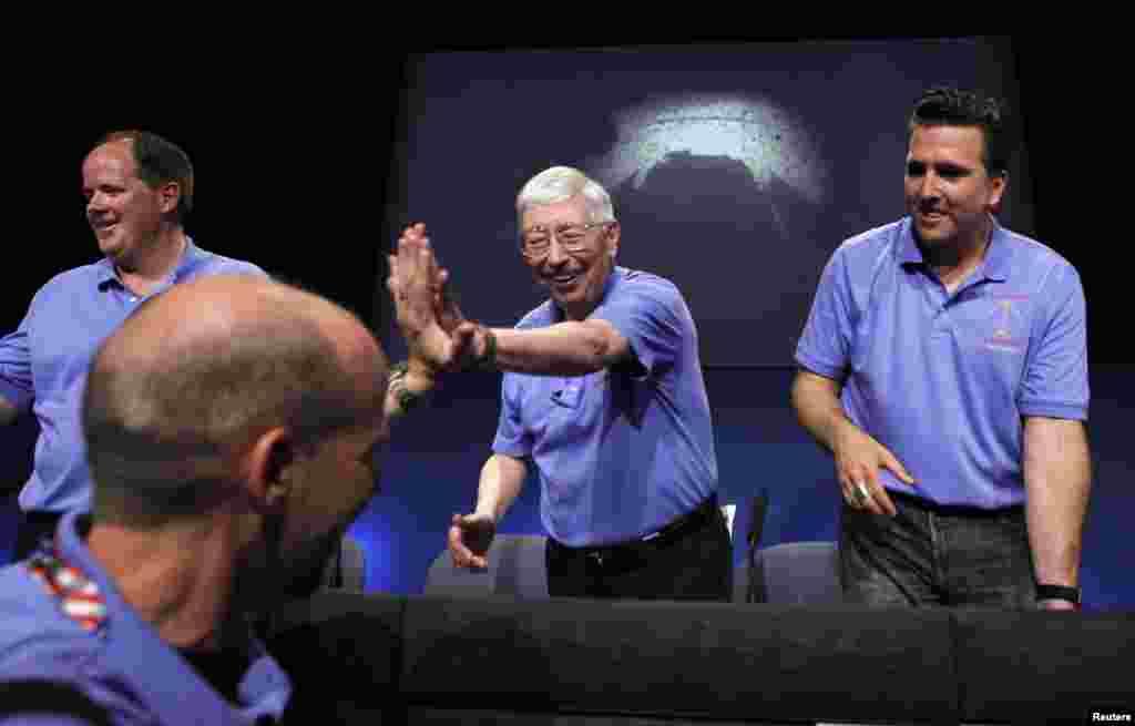 Sa konferencije za medije u američkoj agenciji za istraživanje svemira (NASA) u Pasadeni.