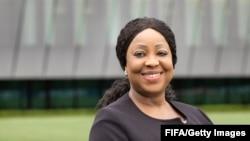 Fatma Samoura, secrétaire générale de la Fédération internationale de footbal au siège de la FIFA à Zurich, le 30juin 2016