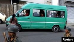 Un minibus à Antanarivo, Madagascar 18 novembre 2010.