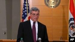 密蘇里州聖路易斯縣檢察官麥卡洛克11月24日宣佈大陪審團不起訴威爾遜的決定