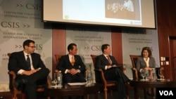 华盛顿战略与演讲中心讨论美台环保合作议题(美国之音钟辰芳拍摄)