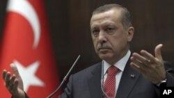 Turkish Prime Minister Recep Tayyip Erdogan addressing lawmakers at parliament, Ankara, June 26, 2012.