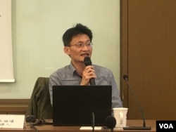 台灣中研院社會所研究員林宗弘(美國之音 陳筠拍攝)