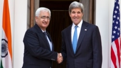 Kerry With Indian External Affairs Minister