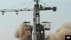 2009년 4월 '광명성 2호' 발사 장면