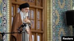 Supreme Leader Ayatollah Ali Khamenei delivers a speech in Mashhad, northeast of Tehran, Iran, March 21, 2019. (Khamenei.ir handout)