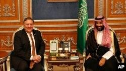 مایک پمپئو، وزیر خارجه ایالات متحده و محمد بن سلمان، ولیعهد عربستان سعودی