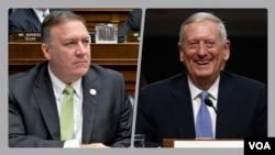 CIA direktörü adayı Mike Pompeo ve savunma bakanı adayı James Mattis
