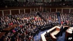 奧巴馬總統在星期二晚於國會發表國情諮文