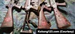 တိုက္ပဲြအတြင္း သိမ္းဆည္း ရရွိခဲ့တဲ့ လက္နက္မ်ား။ (ဓာတ္ပံု -Kokang123.com- ေမ ၃၁၊ ၂၀၂၁)