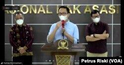 Komisioner Komnas HAM, Beka Ulung Hapsara menyampaikan sikap Komnas HAM terkait kasus GKI Yasmin dalam tangkapan layar. (Foto: VOA/Petrus Riski)