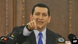 Phát ngôn viên Bộ Ngoại giao Syria Jihad Makdissi trong một cuộc họp báo ở Damascus