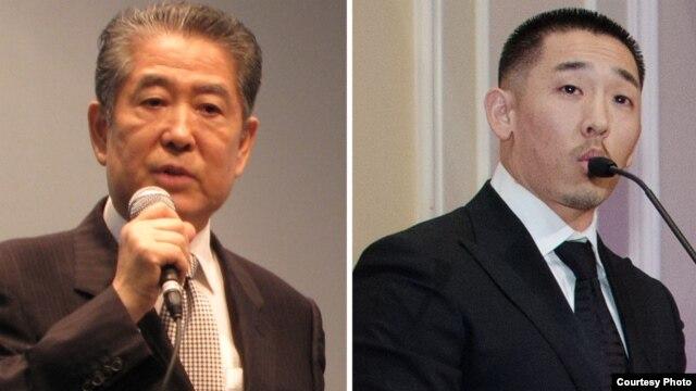 지난 6월 타계한 '한-슈나이더' 재단 창립자 한상만 씨(왼쪽)와 아들 아서 한 대표.