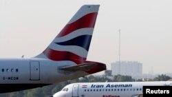 Un avion de la compagnie iranienne Aseman s'apprête à décoller à l'aéroport Mehrabad de Téhéran, le 6 août 2007.