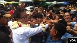 "Sam Rainsy said the ""people's congress"" could see as many as 5,000 participants at Freedom Park."