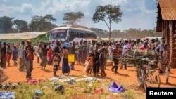 Wakimbizi wa Burundi waliokimbia ghasia za kisiasa nchini mwao.