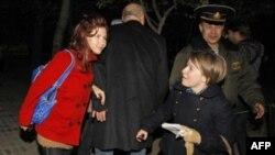 Анна Чапман на Байконуре. 8 октября 2010г.