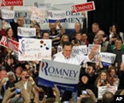 លោក Mitt Romney បេក្ខជនប្រធានាធិបតីខាងគណបក្សសាធារណរដ្ឋធ្វើយុទ្ធនាការឃោសនាបោះឆ្នោតនៅទីក្រុង Bellevue រដ្ឋវ៉ាស៊ីនតោន។